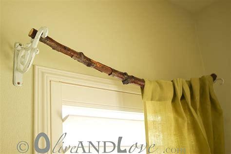cool curtain rods branch curtain rod cool idea pinterest