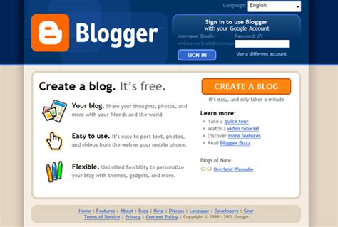 how to blog using blogger web2 be a creator a 23 must see free blogging platforms whsr