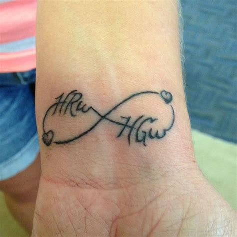 tattoo name infinity infinity tattoo with names and feather images