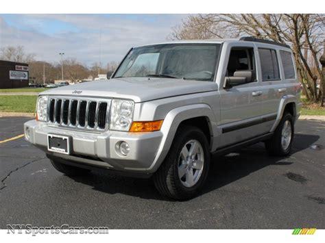 jeep commander silver 2007 jeep commander sport 4x4 in bright silver metallic