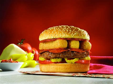 mozzarella stick topped burger  red robin  eats