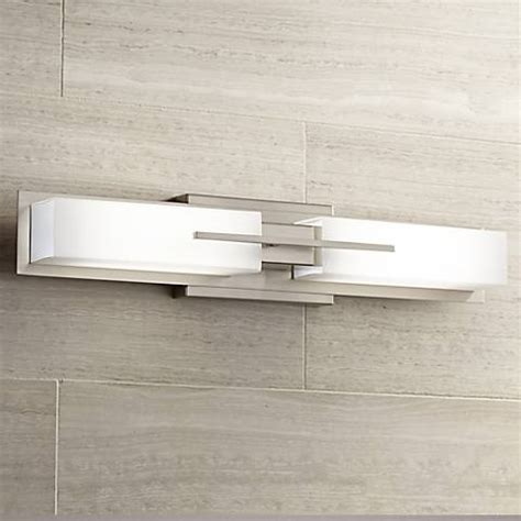 Ls Plus Bathroom Vanity Lights Possini Midtown 23 1 2 Quot W Satin Nickel Led Bath Light 2m681 Ls Plus