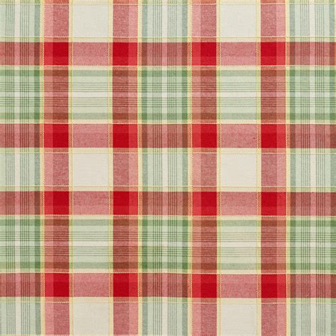 upholstery fabric plaid green and red country plaid upholstery fabric by the yard
