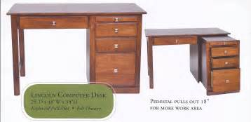 Small Wood Computer Desk With Drawers Small Desk With Drawers