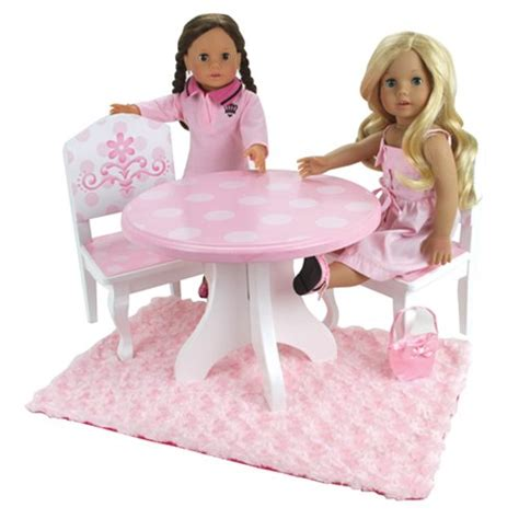 18 doll table and chairs fun with dolls com 18 inch doll table chairs set fits