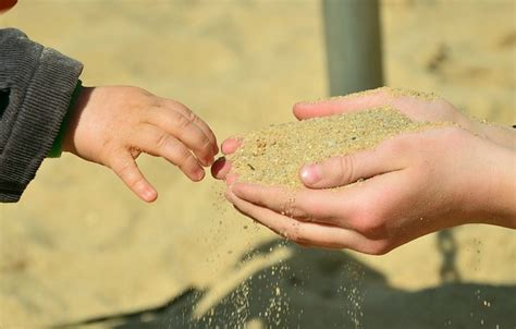 Free stock photo: Hands, Sand, Children'S Hands   Free