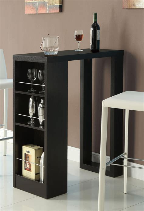 bana home decor bana home decor bar table w three storage shelves bana