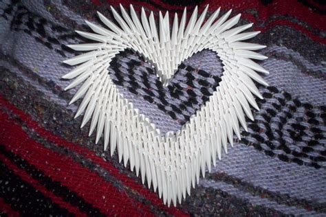3d Origami Hearts - 3d origami by animeperfect on deviantart
