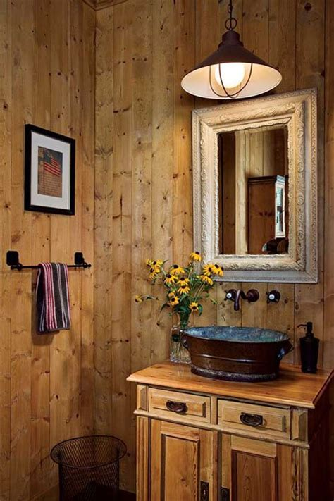 Rustic Bathroom Lighting Ideas 46 Bathroom Interior Designs Made In Rustic Barns