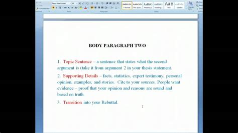 Research Paper Parts And Definition by The Six Parts Of The Argumentative Research Paper
