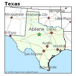 abilene texas map best places to live in abilene texas