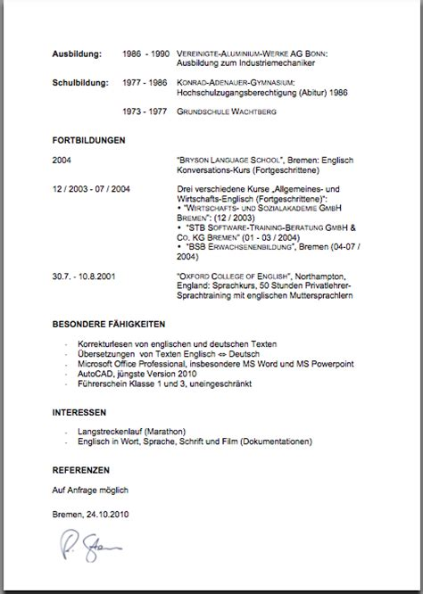 Curriculum Vitae Sle With Signature Cv Roland De