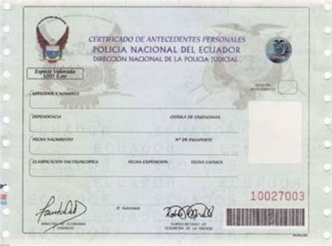 record policial en ecuador requisitos para la marginaci 243 n cancelaci 243 n eliminaci 243 n