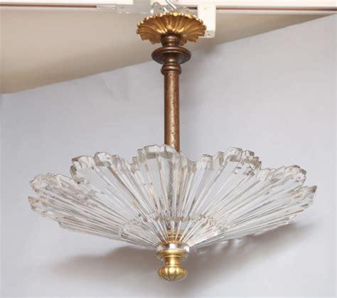 american flush mount glass sunburst ceiling light at 1stdibs