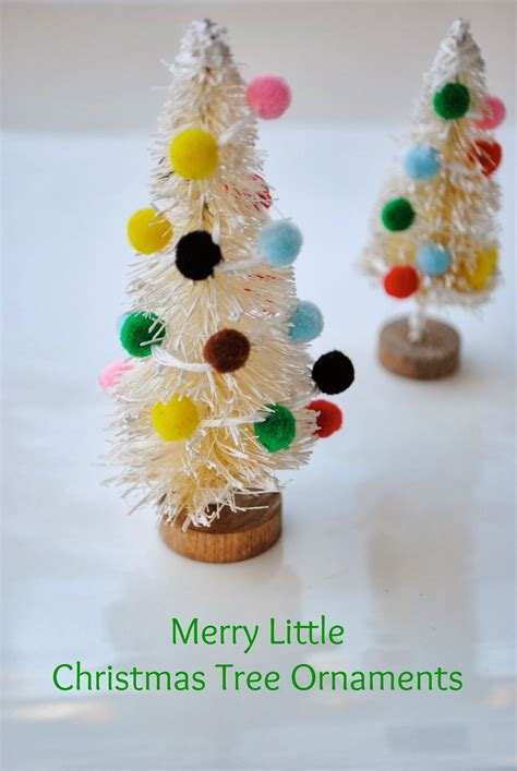 Handmade Tree Ornaments - mini bottle brush tree ornaments handmade ornament no 5