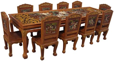Thai Dining Table Ramayana Teak Wood Dining Table 10 T Buy Dining Table Product On Alibaba