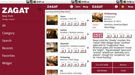 zagat for android zagat app for android popsugar tech