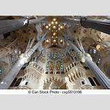 Gaudi Sagrada Familia Ceiling | 450 x 320 jpeg 39kB