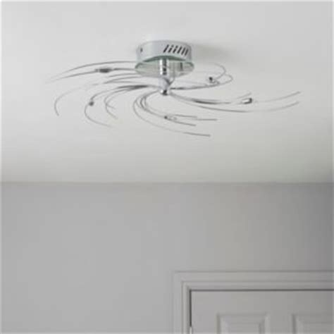 B Q Lights Ceiling Spiral Chrome Effect 5 L Ceiling Light Departments Diy At B Q