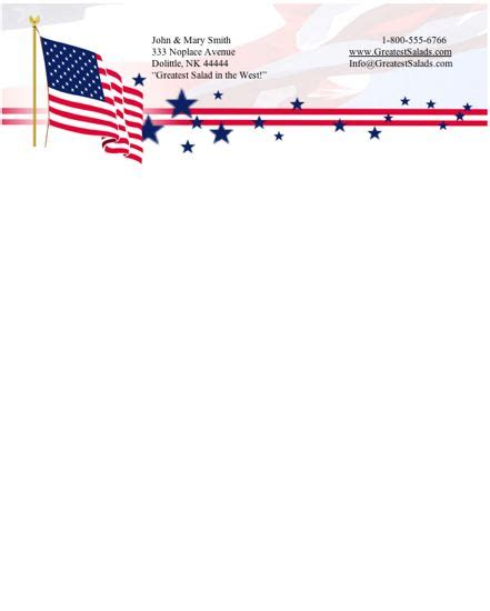 printable flag stationery patriotic stationery