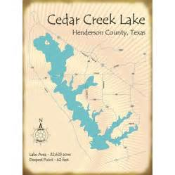 map of cedar creek lake lake house