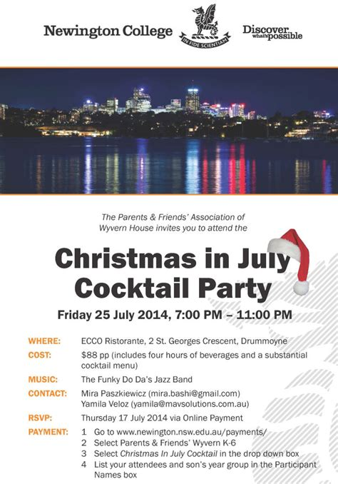 christmas in july cocktail party wyvern
