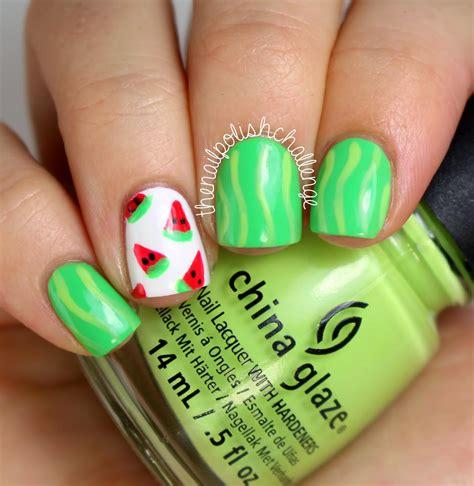 tutorial watermelon nail design kelli marissa easy watermelon nail art and tutorial