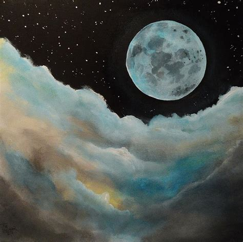 blue moon painting by tim loughner