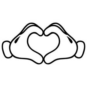 mickey mouse heart hand mini friend cartoons bvstickers