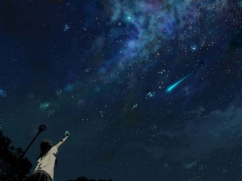 starry night sky girl anime nature starry night sky wallpaper free spring wallpaper