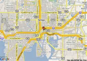 map of hton inn suites ta ybor city fl ta