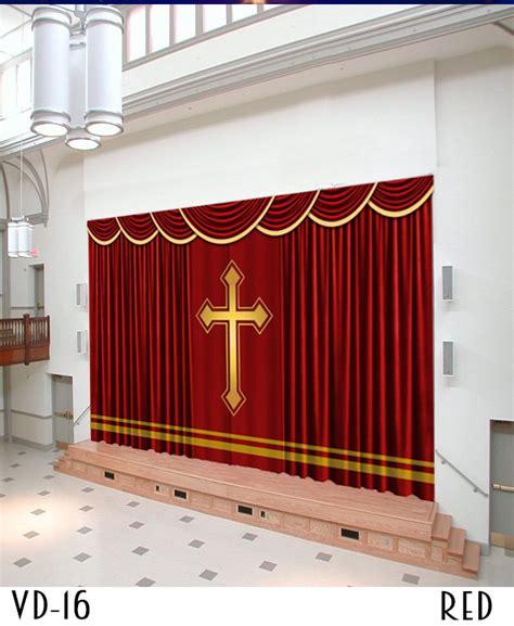 curtain hall drapery styles for church