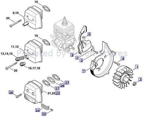 chainsaw coil wiring diagram wiring and parts diagram