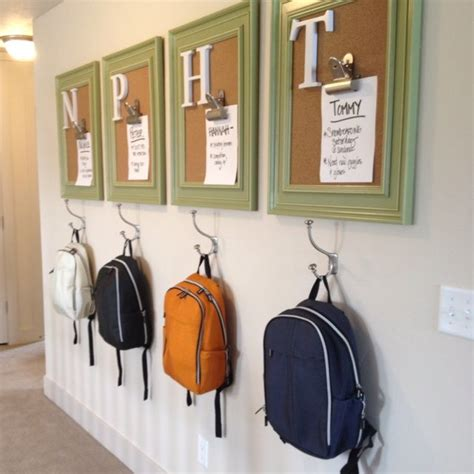 ideas for hanging backpacks 9 of the neatest room decor ideas for a child friendly home