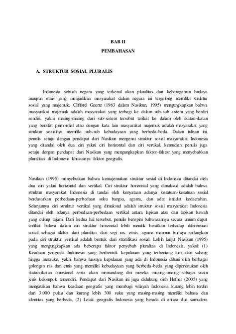 Pengantar Studi Hubungan Internasional By Sorensen pluralitas dan integrasi nasional dalam struktur sosial