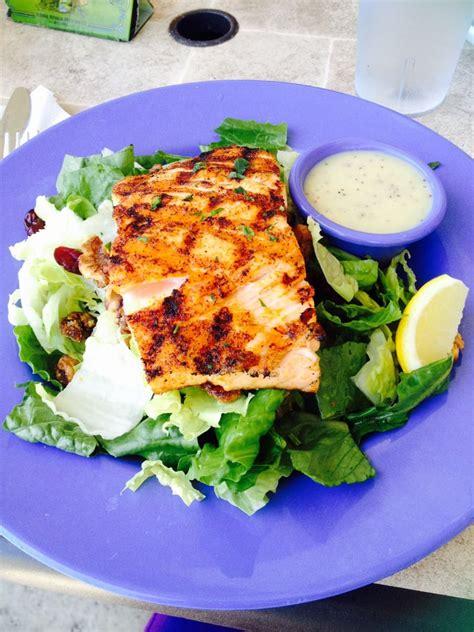 fish house solana walnut salad with grilled salmon minus blue cheese yelp