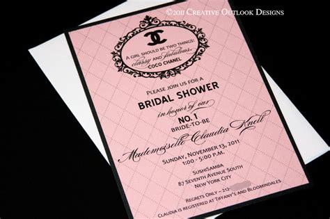 coco chanel wedding invitations classic coco chanel wedding baby bridal shower invitation