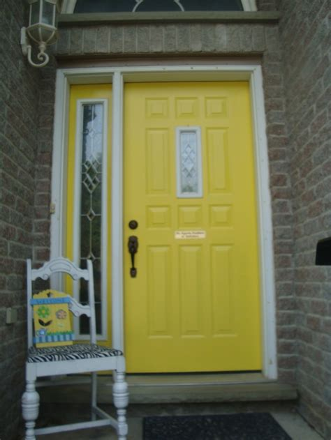 Yellow Front Door Beautiful Yellow Front Door