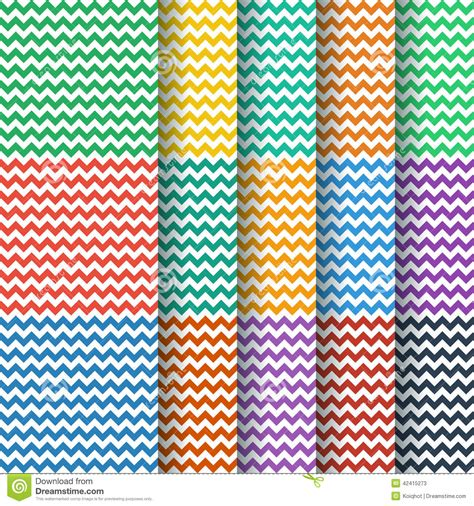 seamless pattern collection chevron seamless pattern collection stock photo image