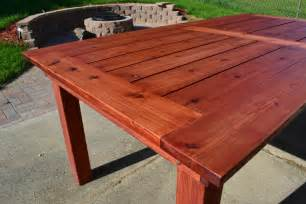 Cedar Patio Table Plans Bryan S Site The Finished Diy Cedar Patio Table