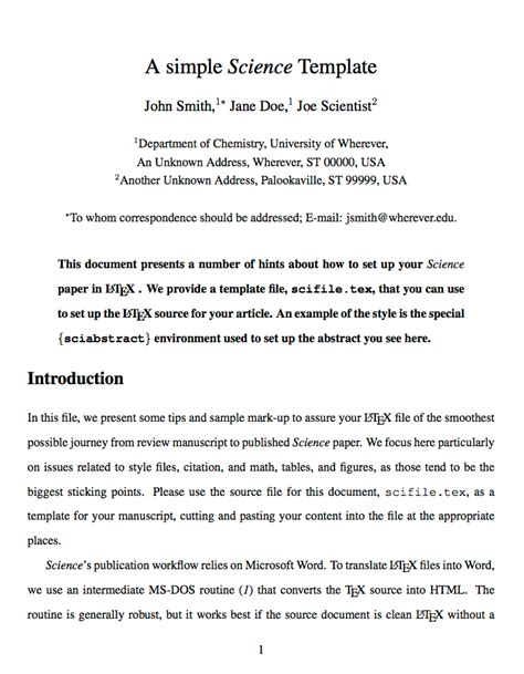 scientific paper word template templates 187 academic journals