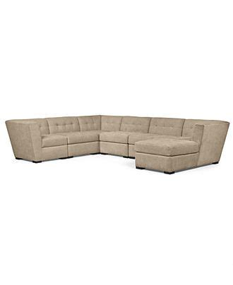 macy s roxanne sectional roxanne fabric 6 piece modular sectional sofa 2 corner