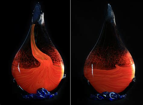 Ultimate Classic Lav Flo the classic crackled kilauea vase moe glass