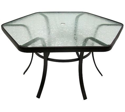 martha stewart patio table replacement glass hexagon patio table maribointelligentsolutionsco and