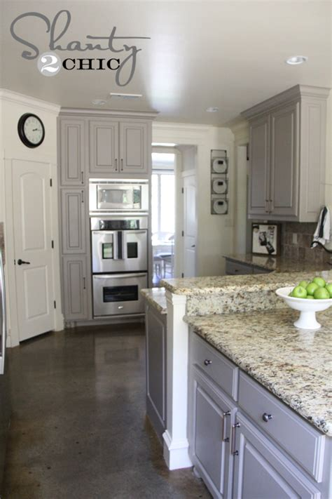 Kitchen Cabinets Painted Gray by Choosing Battles And A Paint Color Shanty 2 Chic