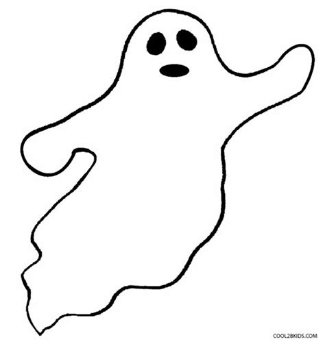 Printable Ghost Coloring Pages For Kids Cool2bkids Ghost Color Page