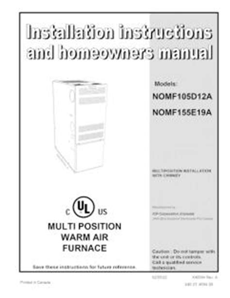 International Comfort Products Furnace by Nomf105d12a International Comfort Products Warm Air Furnace