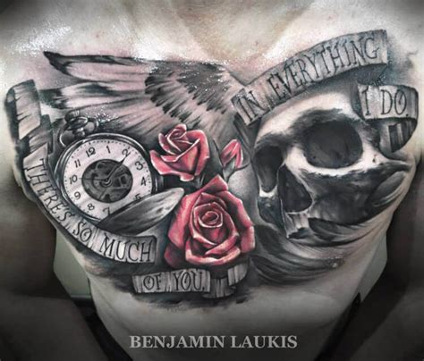 chest tattoo by benjamin laukis no 281