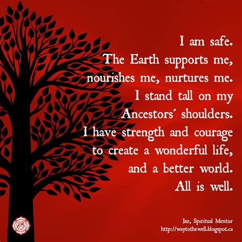 root chakra root chakra affirmation i am safe the earth supports me