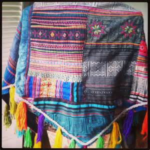 Patchwork Shawl - patchwork shawl from thailand blue 183 roaming republic